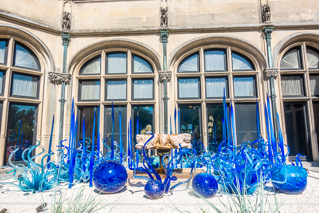 Chihuly at The Biltmore - Sky Blue and Cobalt Fiori, 2017