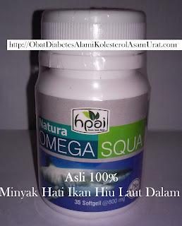 Khasiat Manfaat Nature Omega 3 Squa untuk obat jantung,  penyempitan pembuluh darah,  kolesterol, stroke, dan kanker