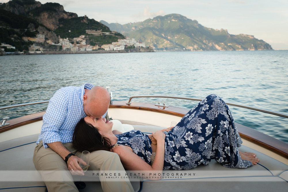 Wedding boat trip on Amalfi coast