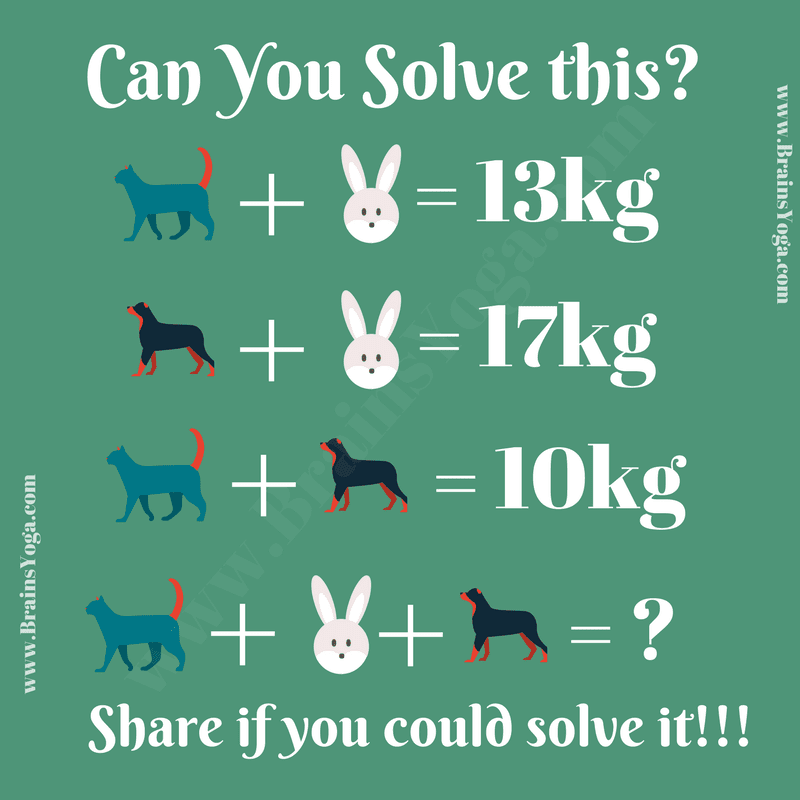 Mathematical Brain Teaser with Answer - Brain\'s Yoga