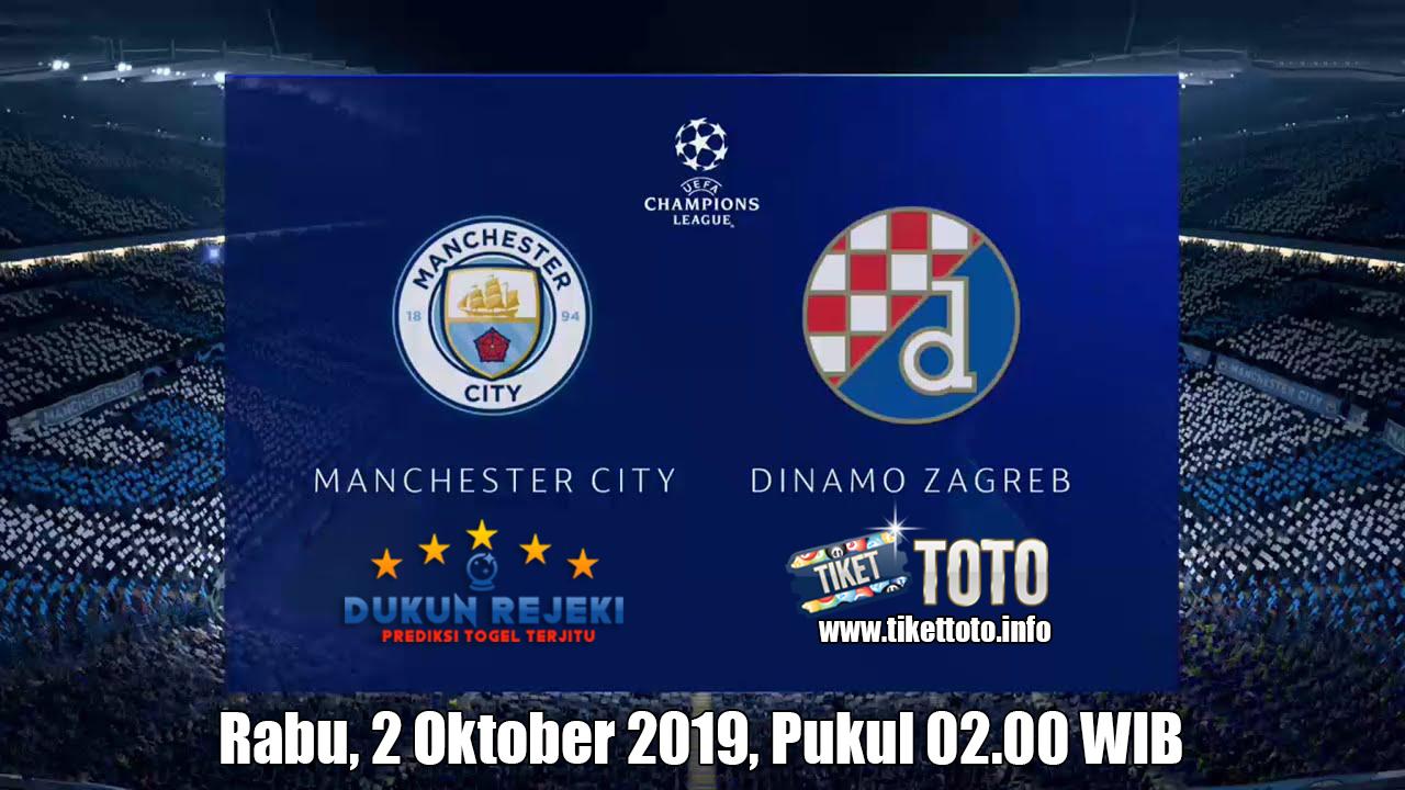 Prediksi Manchester City VS Dinamo Zagreb 2 Oktober 2019