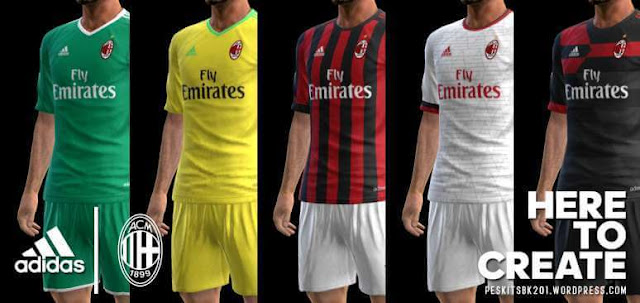 AC Milan 2017-2018 Kits PES 2013