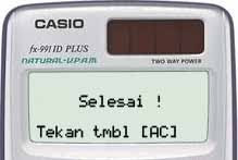 Reset Kalkulator Casio Scientific FX-991ID Plus 5