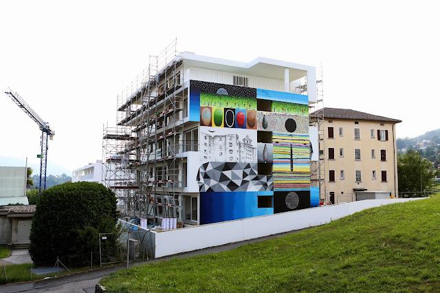 Xuan Alyfe's New Street Art Piece For Arte Urbana Lugano In Switzerland 3