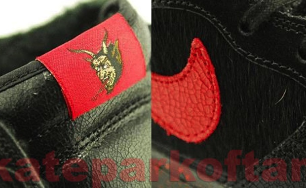 new style f5071 b1b58 Sean Cliver looks to the legend of Krampus for his offering on the Nike SB  Dunk High. Building on the legend of the mythical creature, Sean uses a  mostly ...