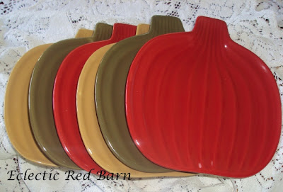 mulit-colored pumpkin plates