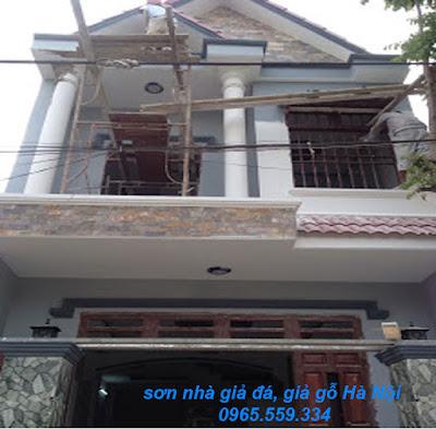 Thợ sơn nhà, sơn giả đá, giá gỗ tại Hà Nội 0965.559.334