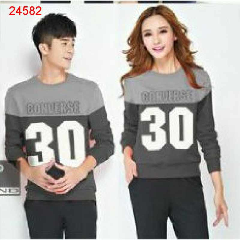 Jual Sweater Couple Sweater Converse Abu - 24582