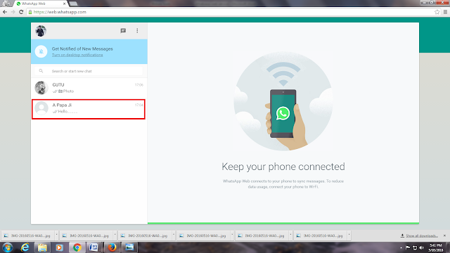 Whatsapp looks like this in your PC