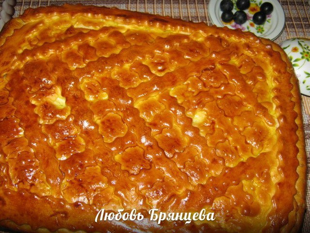 рецепт пирога с грибами и рисом