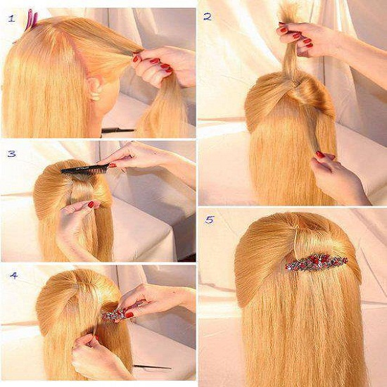 Best Quick and Simple Hairstyle Pics Tutorial ~ Pak Fashion