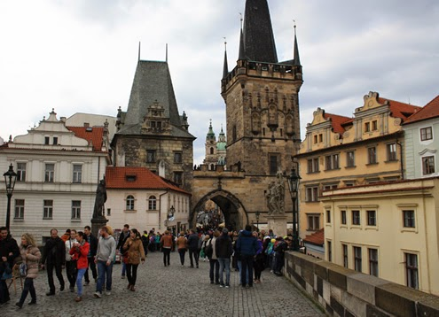 Charles Bridge Prague | Happy in Red