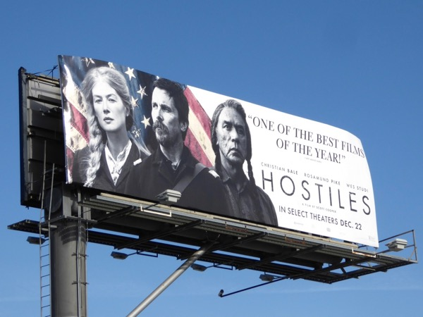 Hostiles movie billboard