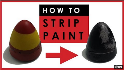 Video tutorial on how to strip paint from scale models, remove enamel or acrylic paint