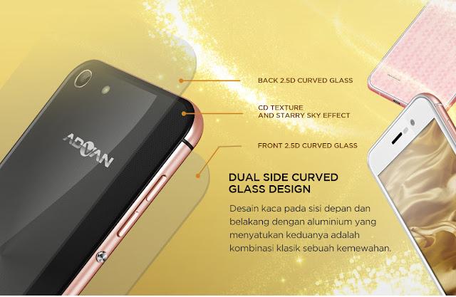 Advan i5A Dual Side Curve Glass