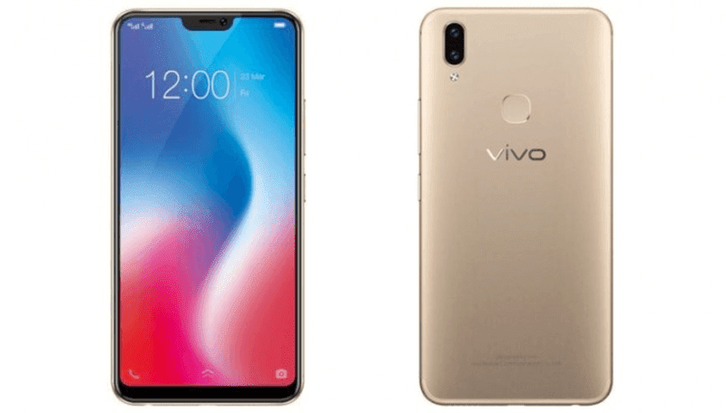 Vivo V9 in gold