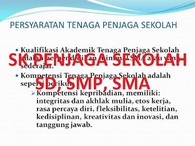 Contoh SK Penjaga Sekolah untuk SD, SMP, SMP 2016/ 2017