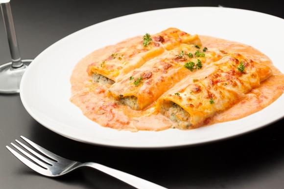 Cannelloni Au Veau Sauce Rosée Au Camembert