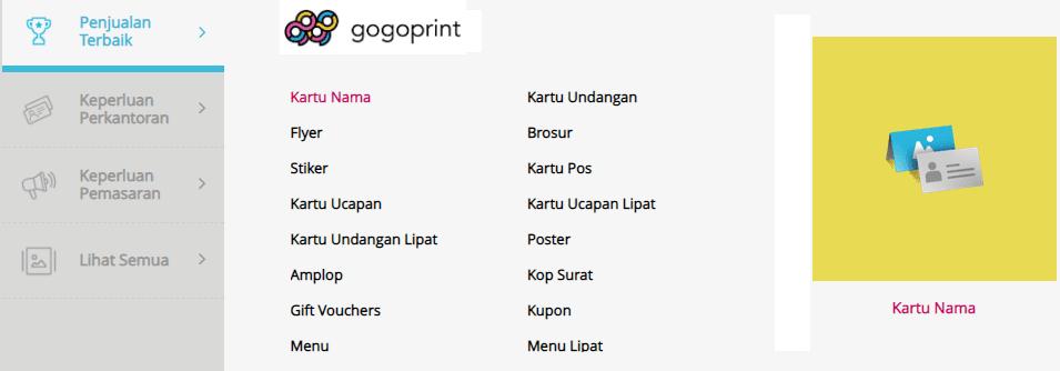 banyak pilihan cetak gogoprint