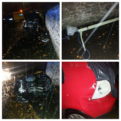 Car Crash Dundee Road Broughty Ferry