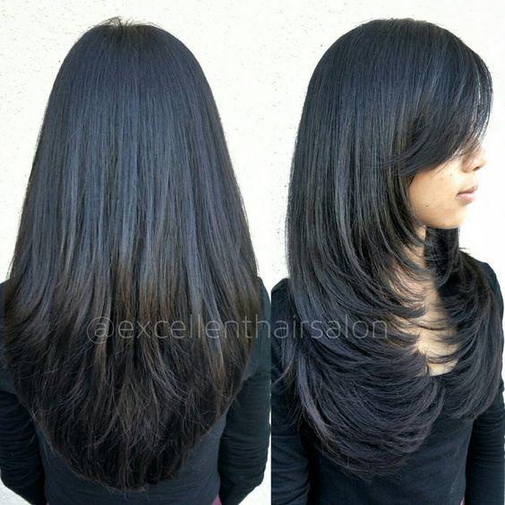 Corte de cabello en forma de v