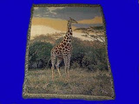 Giraffe Blanket Throw Tapestry