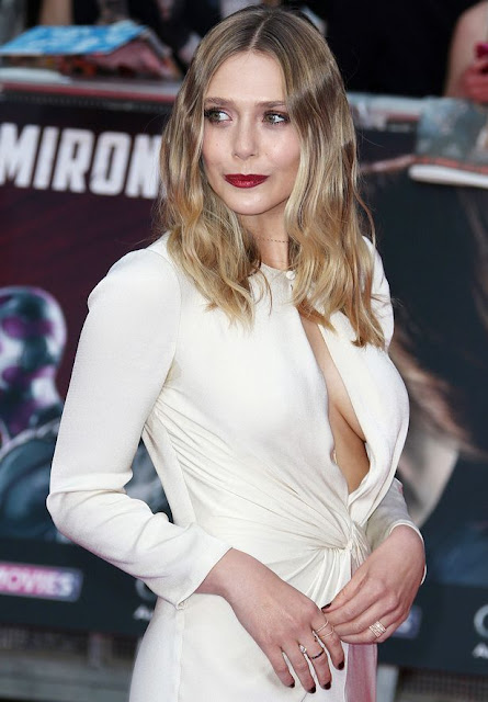 Elizabeth Olsen showing Cleavages