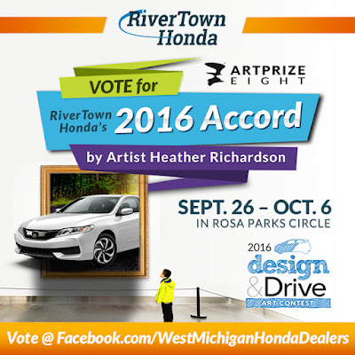 RiverTown Honda and Heather Richardson Team Up for Design & Drive During ArtPrize Eight