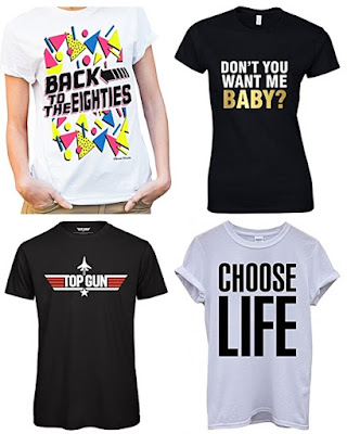 JUN 9 - BEST 80s T-SHIRTS FOR UNDER £10 - grab a bargain with our latest blog post.