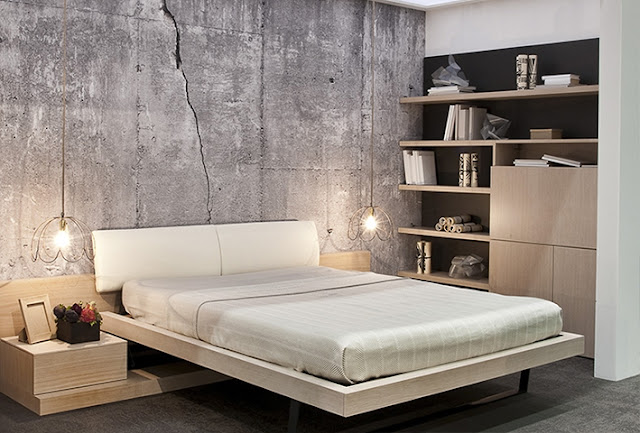 Concrete wall mural wallpaper for home