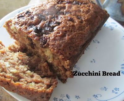 A loaf of zucchini bread