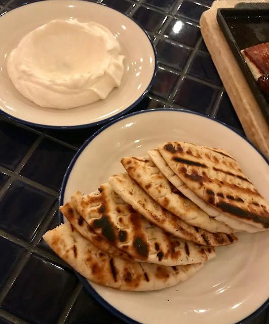 Hellenic Republic, Kew, taramasalata, pita bread