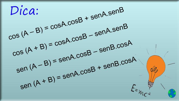 Dica para lembrar as fórmulas de adição e subtração de arcos