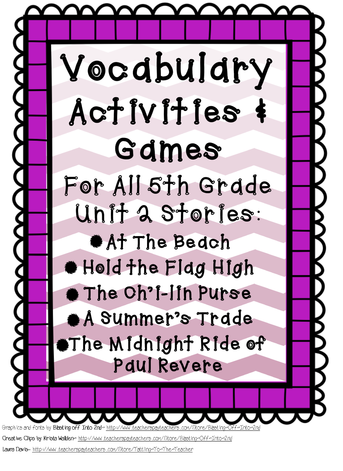 Fifth Grade is Fab!: 5th Grade Reading Street Vocabulary Resources [ 1600 x 1166 Pixel ]
