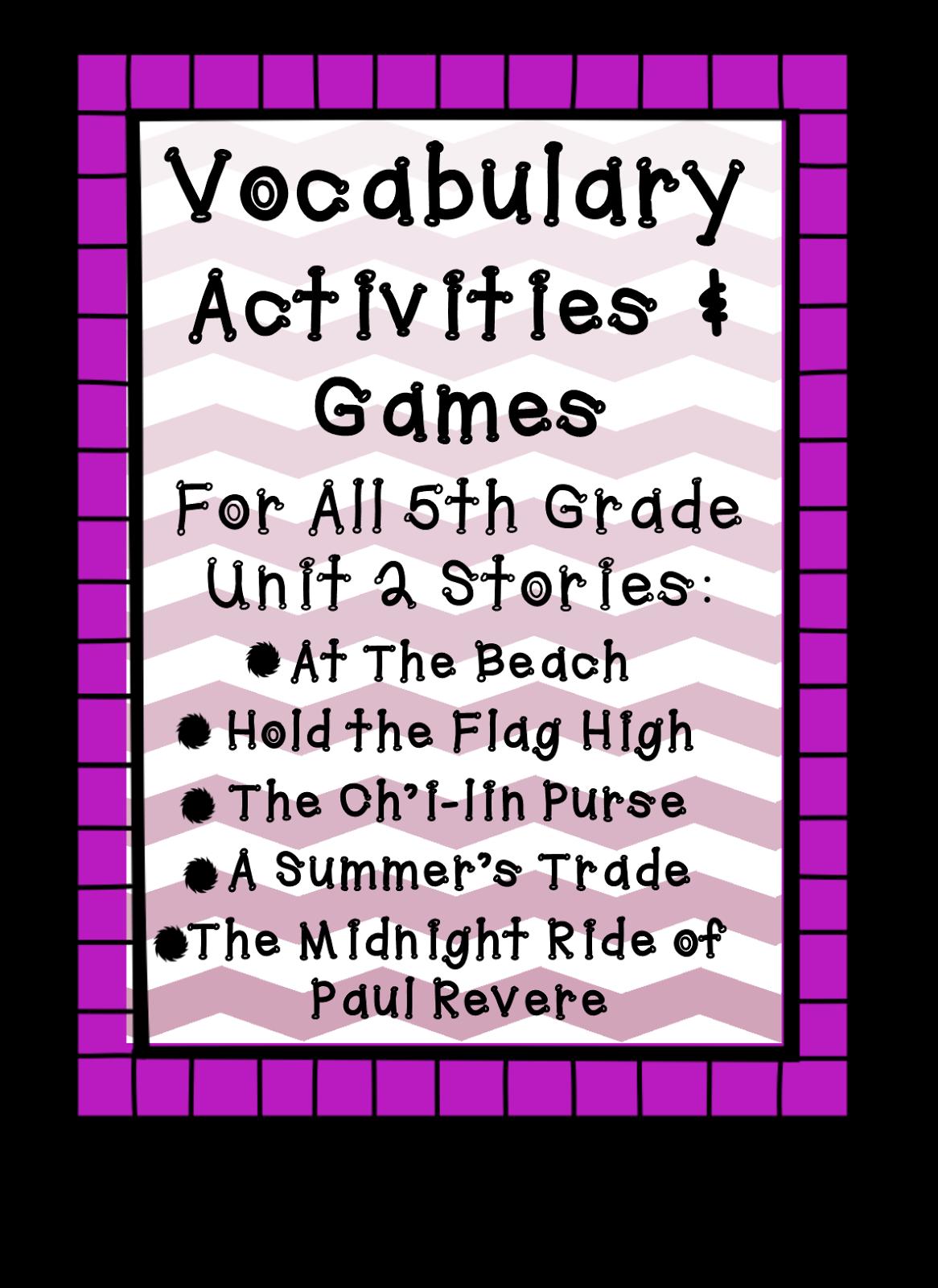 Fifth Grade Is Fab 5th Grade Reading Street Vocabulary