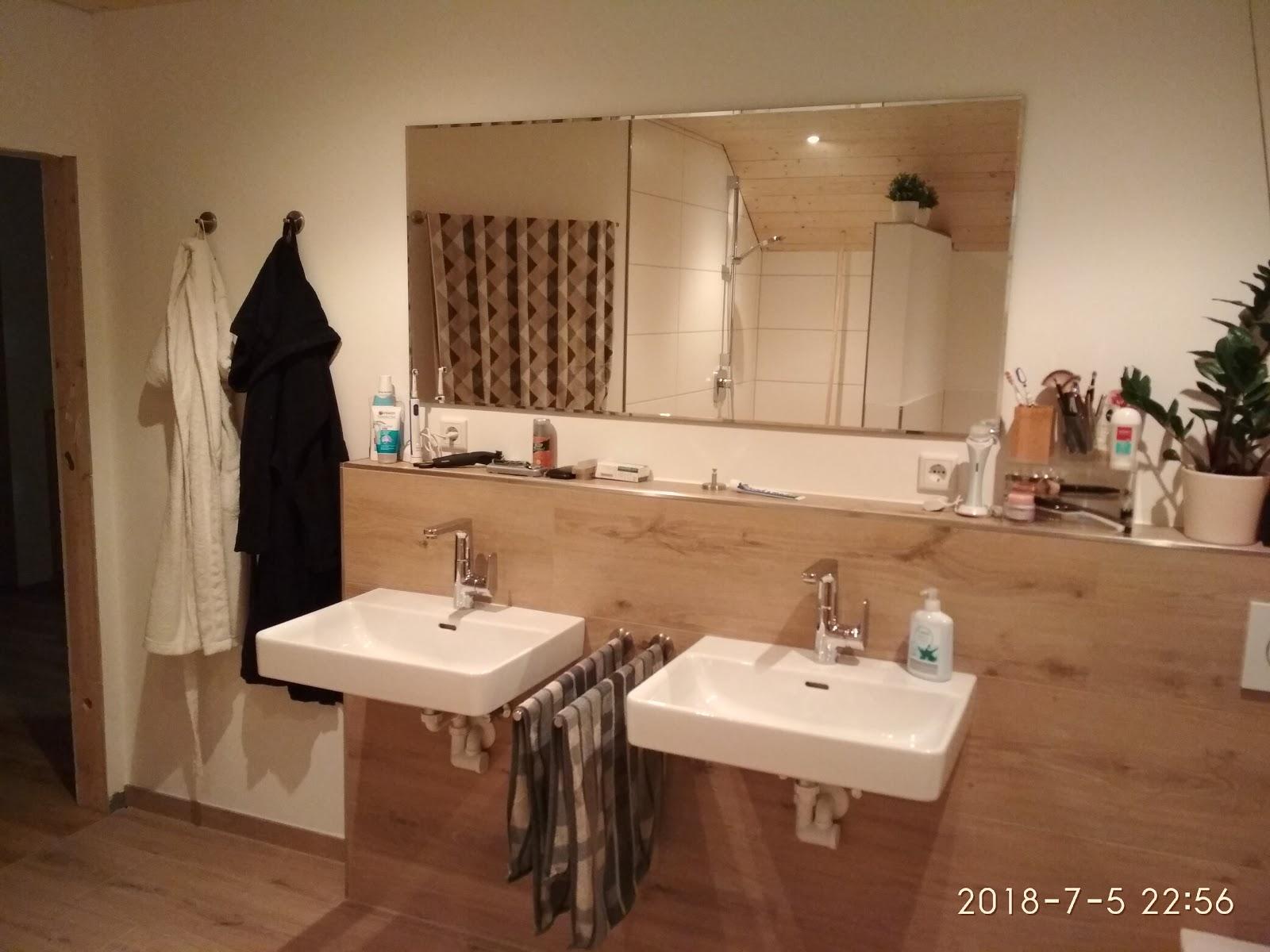 Wir bauen ein Holzhaus: Einrichtung von Bad+WC