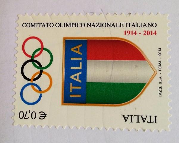 francobollo Comitato Olimpico Nazionale Italiano Centenario della fondazione