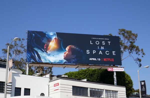 Lost in Space TV remake billboard