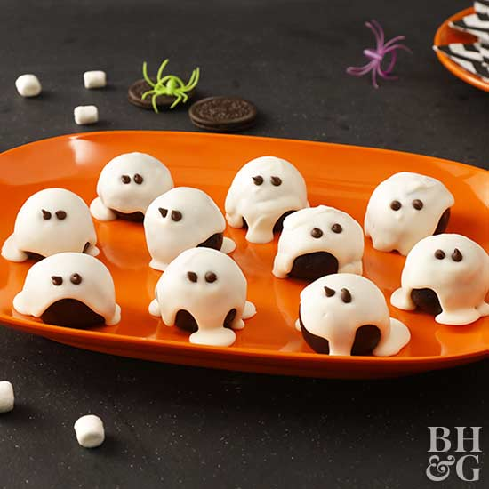 Halloween Oreo Ball Ghosts