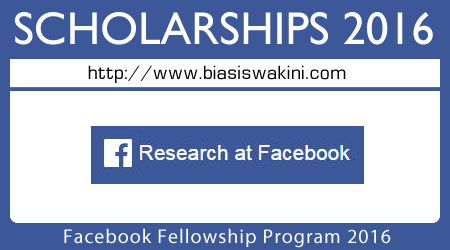 Facebook Fellowship Program 2016