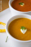 (Zupa z pieczonych pomidorów