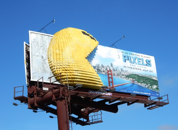 Special 3D Pac-Man Pixels Movie billboard