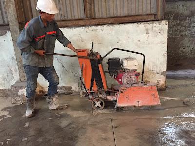 Khoan cắt bê tông tại huyện Cù Lao Dung