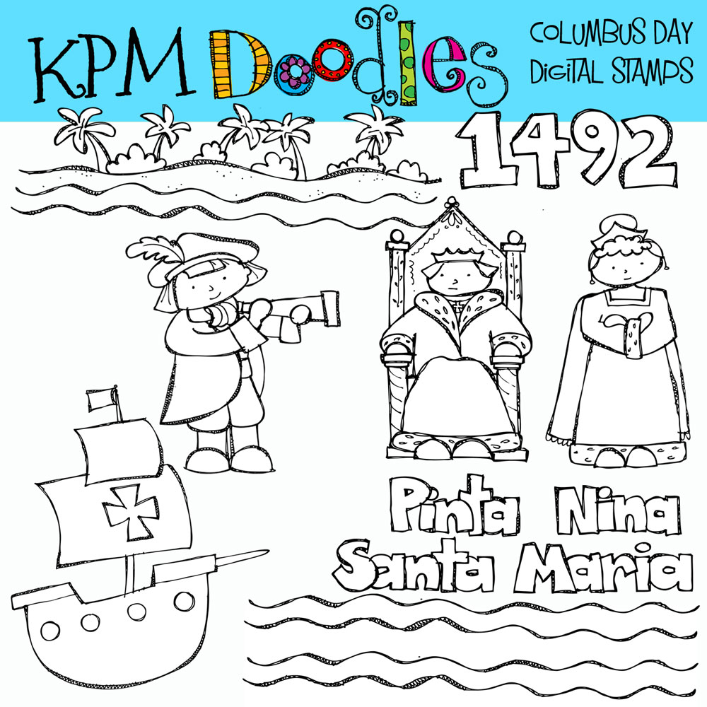 Worksheets Columbus Day Worksheets kpm doodles columbus day clip art art