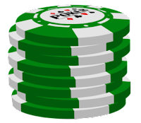 green poker chip stack