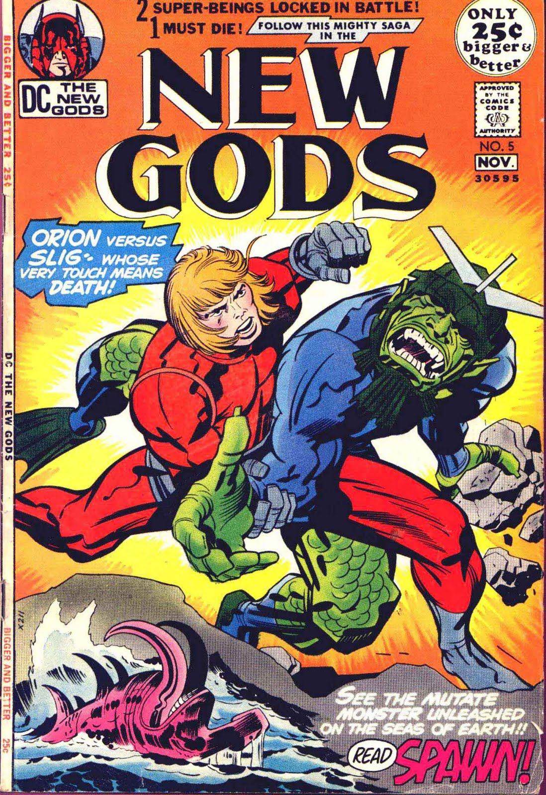 New Gods v1 #5 dc bronze age comic book cover art by Jack Kirby