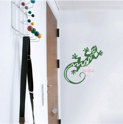 vinilo decorativo pared animales, gecko, lagartija, tribal