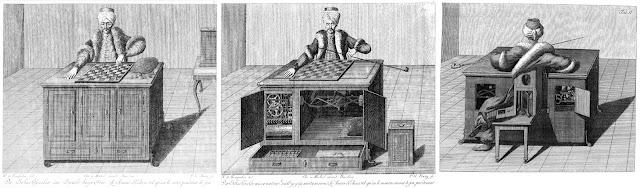 Der sogenannte Schachtürke, ein vermeintlicher Apparat mit menschlichen Zügen