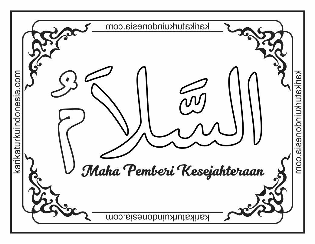 Mewarnai Asmaul Husna As Salam