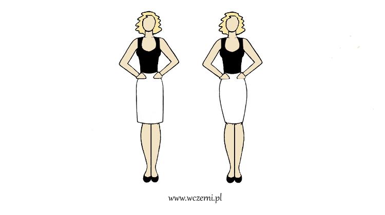szerokie ramiona lepiej wyglądają w spódnicy luźniej niż dopasowanej
